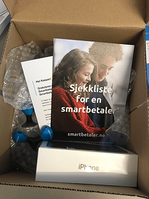 Smartbetaler Quiz premie iPhone